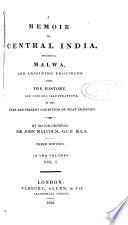 A memoir of Central India