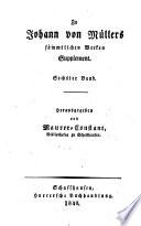 Briefe an Johann von Müller