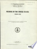 Negroes in the United States, 1920 - 1932