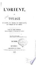L'Orient; ou, Voyage en Égypte