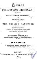 Walker's Pronouncing Dictionary