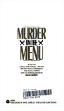 Murder On The Menu : including stories by ruth rendell, rex stout, stanley...