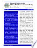 Financial Outlook for the New York City Metropolitan Transportation Authority  MTA