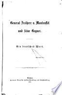 General v. Manteuffel und seine Gegner