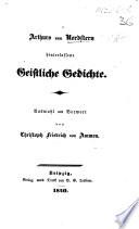 Arthur S Vom Nordstern Hinterlassene Geistliche Gedichte Auswahl Und Vorwort Von C F Von Ammon