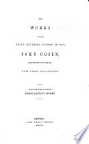 The Library of Anglo Catholic Theology  Works of     John Cosin  1843 55
