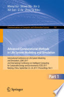 Advanced Computational Methods in Life System Modeling and Simulation
