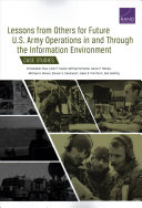 Lessons From Others For Future U S Army Operations In And Through The Information Environment