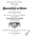 Johan Heinrich David Goebels Beiträge zur Staatsgeschichte von Europa unter Kaiser Karl dem Fünften