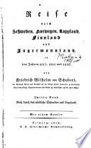 Reise durch Schweden  Norwegen  Lappland  Finnland und Ingermannland in den jahren 1817  1818 und 1820  bd   Reise durch das n  rdliche Schweden und Lappland