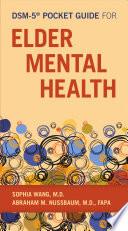 Dsm 5 Pocket Guide For Elder Mental Health