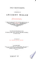 Jolo Manuscripts  A Selection of Ancient Welsh Manuscripts  in Prose and Verse  with English Transl  and Notes by