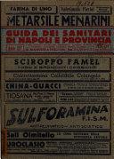 Guida dei sanitari di Napoli e provincia e delle provincie di Avellino  Benevento  Salerno  Campobasso  Matera  Potenza  Catanzaro  Cosenza  Reggio Calabria