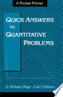 Quick Answers to Quantitative Problems