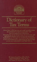 Dictionary of Tax Terms