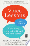 Voice Lessons For Parents : the dialect needed to converse...