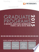 Graduate Programs in Business  Education  Information Studies  Law   Social Work 2015  Grad 6