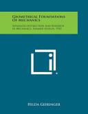 Geometrical Foundations of Mechanics