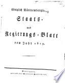 Königlich-Württembergisches Staats- und Regierungs-Blatt