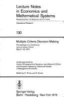 illustration du livre Multiple Criteria Decision Making