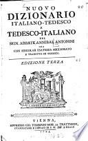 Nuovo Dizionario Italiano-Tedesco E Tedesco-Italiano