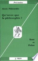 illustration du livre Qu'est-ce que la philosophie?