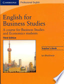 English for Business Studies Teacher s Book