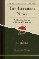 The Literary News, Vol. 2 Journal Of Current Citerature The Religious