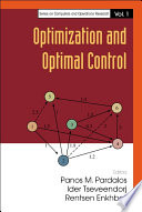 Optimization And Optimal Control book