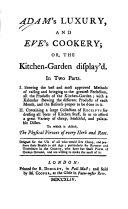 Adam s Luxury and Eve s Cookery