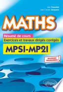Maths R Sum De Cours Exercices Et Travaux Dirig S Corrig S Mpsi Et Mp2i Nouveaux Programmes