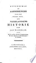 Byvoegsels en aanmerkingen voor het eerste -twintigste deel der Vanderlandsche historie