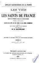 Annales hagiologiques de la France: Deuxième et troisième siècles