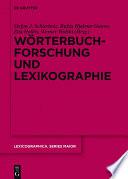 Wörterbuchforschung und Lexikographie