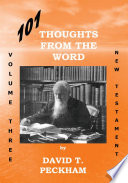 101 Thoughts From The Word Vol  Three
