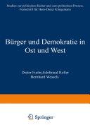 Bürger und Demokratie in Ost und West