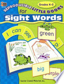 Reproducible Little Books For Sight Words Grades K 2