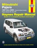 Mitsubishi Pajero Automotive Repair Manual