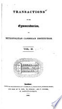 Transactions of the Cymmrodorion, Or, Metropolitan Cambrian Institution