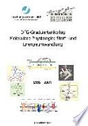 DFG-Graduiertenkolleg Molekulare Physiologie: Stoff- und Energieumwandlung