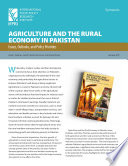 Agriculture and the rural economy in Pakistan: Issues, outlooks, and policy priorities: Synopsis