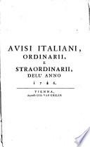 Avvisi italiani, ordinarii e straordinarii