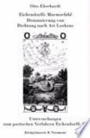 Eichendorffs Marmorbild, Distanzierung von Dichtung nach Art Loebens