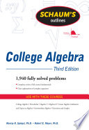 Schaum s Outline of College Algebra  Third Edition