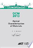 OCM 2013   Optical Characterization of Materials   conference proceedings