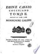 Dione Cassio Coccejano Tomo II