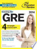 Cracking the GRE with 4 Practice Tests  2014 Edition