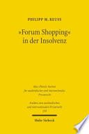 """""""Forum Shopping"""" in der Insolvenz"""