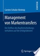 Management von Markentransfers
