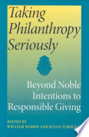 Taking Philanthropy Seriously